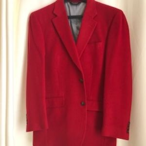Red Jos. A. Bank Camel Hair Blazer